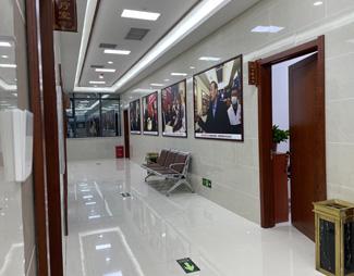郑州肤康皮肤病专科医院二楼走廊